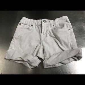 7 For All Mankind Girls White Denim Shorts Size 7